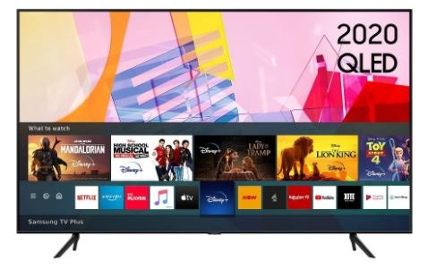 Samsung Q60T 55″ 4K Quantum HDR QLED Smart TV – Black