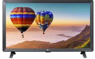 LG Smart TV 24TN520S 24 Inch Monitor LED, HD Display, Wall Mount, 5 W x 2 Stereo Speaker, WebOS 3.5 Smart TV, Built-in Wi-Fi, Energy Class F, Black (2020 Model)
